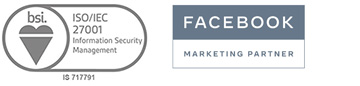 iso 27001 facebook marketing partner icons